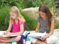 children writing Camp